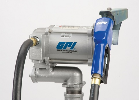GPI 110V Heavy Duty Fuel Pump with Automatic Nozzle