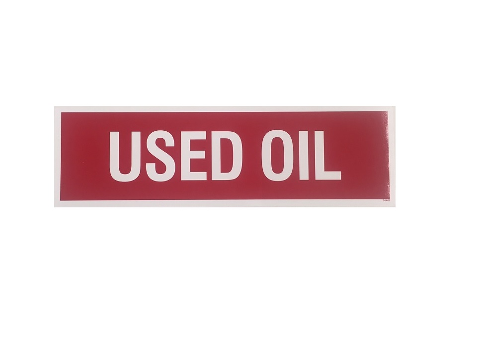 Used Oil Decal Sticker